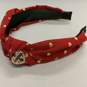bebe logo side knotted headband